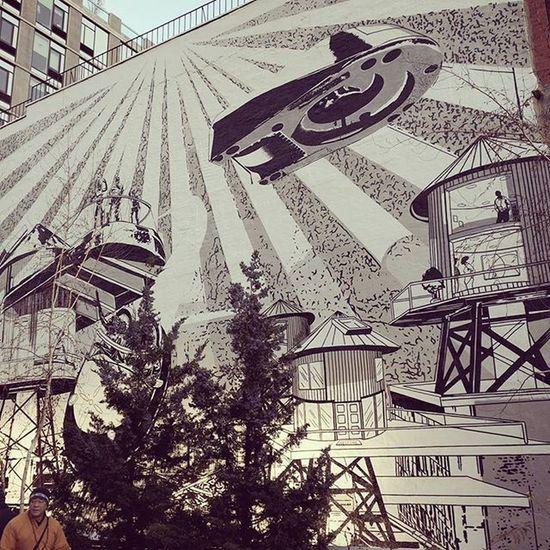 Wall High LINE Chelsea Manhattan Newyork