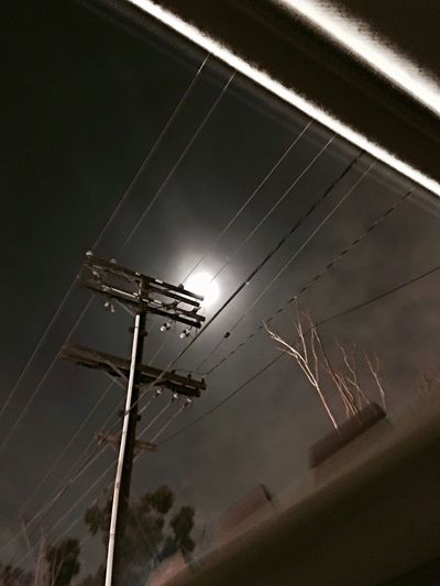 Low Angle View Electricity  No People Power Supply Outdoors Friday Night Howling At The Moon The Freaks Come Out At Night Glendale, California