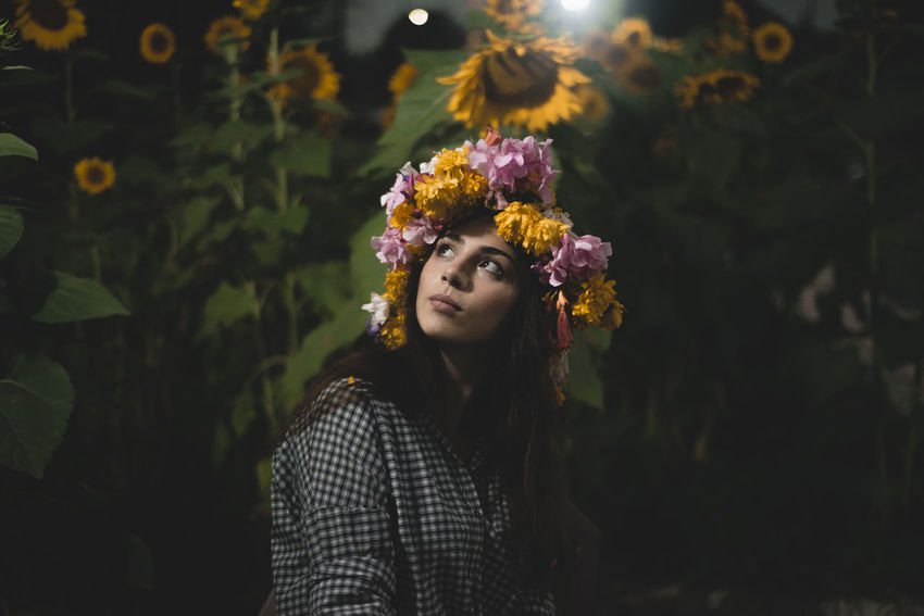 Leluka One Person Portrait Young Adult Flowering Plant Young Women Plant Leisure Activity Flower Lifestyles Looking At Camera Real People Hairstyle Beauty Headshot Beautiful Woman Front View Nature Wearing Flowers Contemplation Teenager