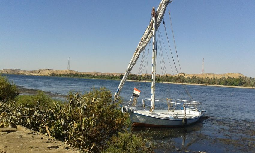 Beauty In Nature Blue Clear Sky Egypt, Aswan Nature Sailboat Sunlight The Nile River