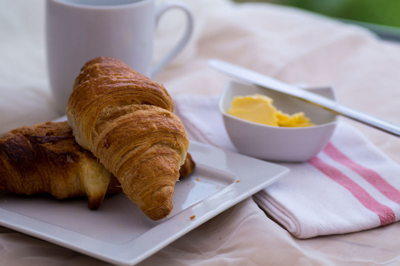 Close-up Of Croissants