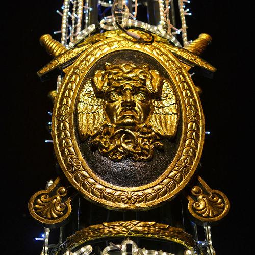 Lantern detail of Panteleymonovsky Bridge. Saint Petersburg, Russia Lantern Detail Panteleymonovsky Bridge Russia Saint Petersburg Black Background Close-up Gold Gold Colored Golden Luxury No People Ornate The Architect - 2018 EyeEm Awards