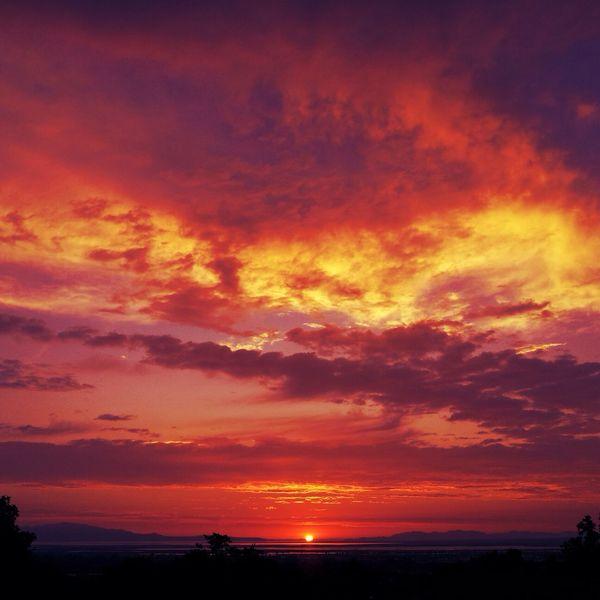 Utah Sunset Landscape Saltlakecity