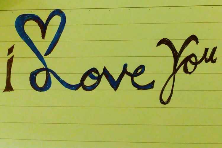 I Love You Handwriting  Western Script Text Message Communication Love ♥ Calligraphy Graffiti Art Graffiti Calligraffiti Mobile Photography Hand Written Love Feelings Only Love♥♥ ONLY LOVE