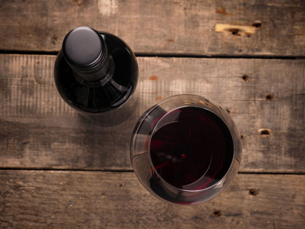 Red wine Alcohol Beverage Bottle Cabernet Drink Glass Merlot Plank Red Wine Red Wine♡ Top View View From Above Wine Bottle Wooden Wooden Table