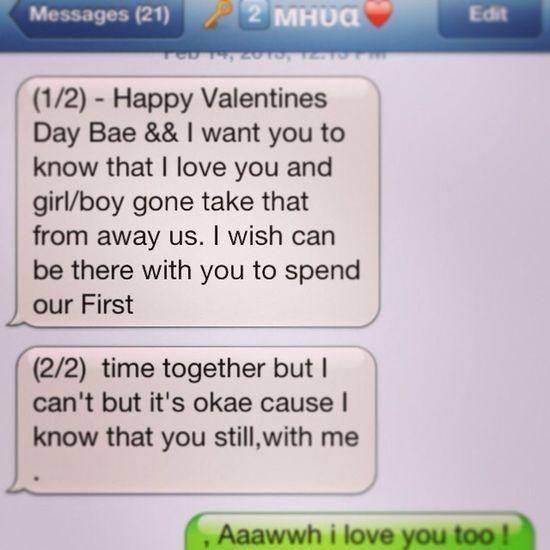 , What My Boyfriend Sent Meh:) Himm Sweet Tue Me☺