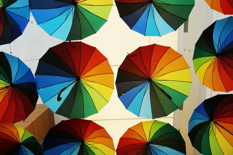 The Street Photographer - 2016 EyeEm Awards Sony A6000 Umbrellas Colors Colorful Abundance Rainbow Rainbow Colors From My Point Of View EyeEm Gallery The Week Of Eyeem Look Up And Thrive Geometry Geometric Shapes Urban Geometry Exceptional Photographs EyeEm Best Shots Getting Inspired Open Edit Showcase June Arrangement No People Urban The OO Mission My Commute