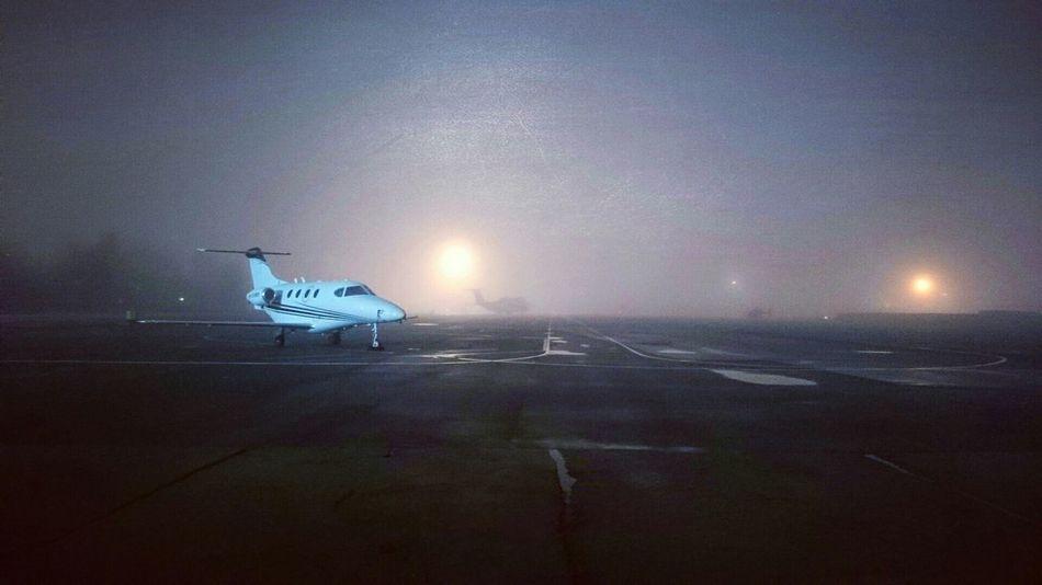 Airport Pulkovo Plane Fog Night Saint-Petersburg