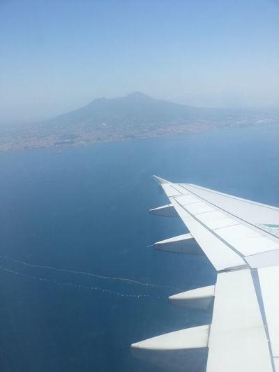 Airplane Flying Napoli Nature Photo Photography Pic Plane Sea Sky Traveling Vesuvio