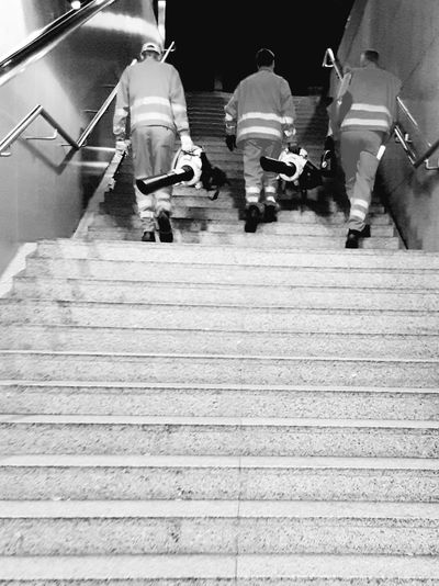People People Photography People Walking  From Behind Black And White Photography Black And White Portrait Black And White Collection  City Life Railroad Station Subway Station Portrait Photography Three People My City Staircase Workers Coworkers Three Friends People_collection Monochrome Photography Galaxy S7 Edge