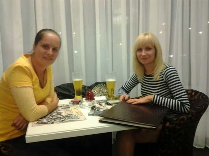 Kiev Ukraine Restorant My Friend And Me