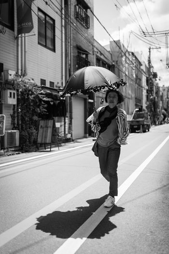 Me And My Shadow Full Length City Architecture One Person Building Exterior Real People Built Structure Day Street Road Lifestyles Walking Transportation Casual Clothing Nature Shadow Leisure Activity Sunlight Symbol Outdoors Blackandwhite Monochrome Black And White Umbrella Sunny Sunny Day Lady EyeEm Best Shots EyeEmNewHere The Street Photographer - 2019 EyeEm Awards Streetphotography Canon Canonphotography The Traveler - 2019 EyeEm Awards Japan Japan Photography Kyoto