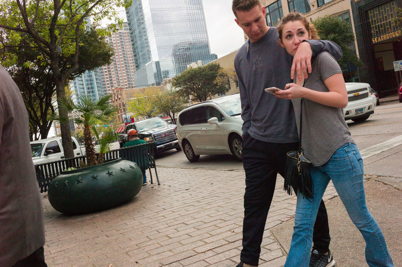 Austin Texas Candid Couple Downtown Austin Insecurity Public Snooping Streetphotography
