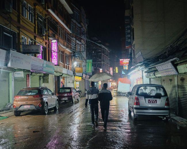 Car Street Wet