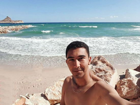 Beach Tunisia❤ Enjoying The Sun Summertime Life Is A Beach Water One Person Looking At Camera Summer One Man Only Sea Vacations Rafraf