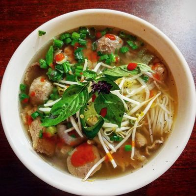 Foodie Pho Soup Food And Drink Food Directly Above Bowl Healthy Eating Ready-to-eat