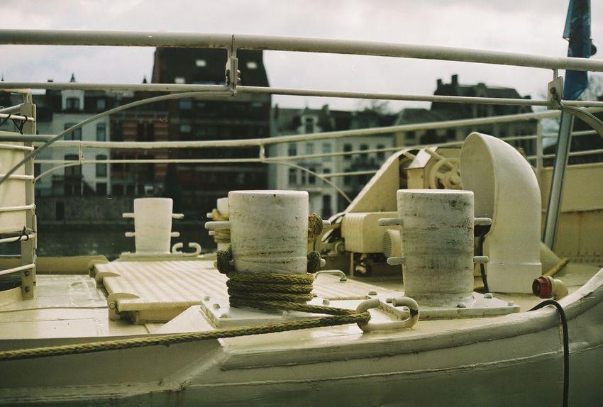 Film Boat Belgium Film Photography Namur Rope