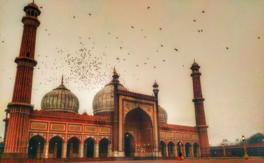 My Year My View Travel Destinations Building Exterior Architecture Built Structure No People Sky Dome Place Of Worship Jama Masjid Delhi6 Monument Phoneography Getty EyeEm Gallery PhonePhotography Eyeemphotography ClickedByMe Photographyislife DelhiGram NCR Delhiwale Picoftheday Pastel Power