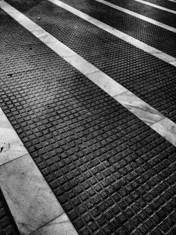 Black&white Lines Stone Floor Contrast Striped Lines