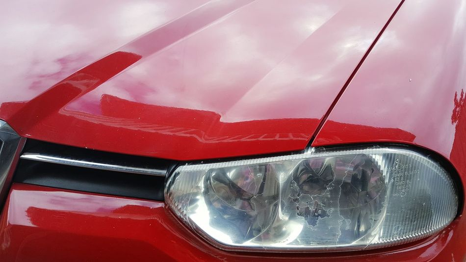 Red Vibrant Color Vehicle Hood Headlight Close Up Red No People Alfa Romeo 156