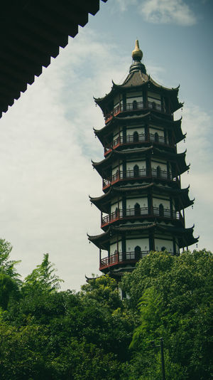 Achitecture Architecture Building Built Structure Documentary Photography Low Angle View Nanchang Old Architecture Outdoors Sky Tower Traveling Tree