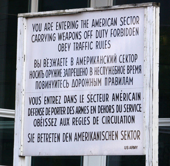 A Taste Of Berlin Berlin Photography Checkpoint Charlie  Built Structure Close-up Communication Day Information Sign No People Outdoors Text Western Script