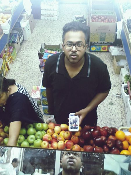 When I Was Jobless Clueless in a fruit shop with soo many mirrors. Selfie Self Portrait