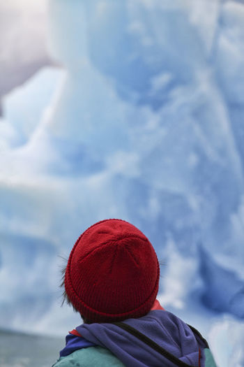 Clothing Rear View Hat One Person Headshot Winter Red Women Real People Knit Hat Leisure Activity Lifestyles Warm Clothing Day Portrait Cold Temperature Adult Focus On Foreground Outdoors Kid Red Ice Winter Glacier