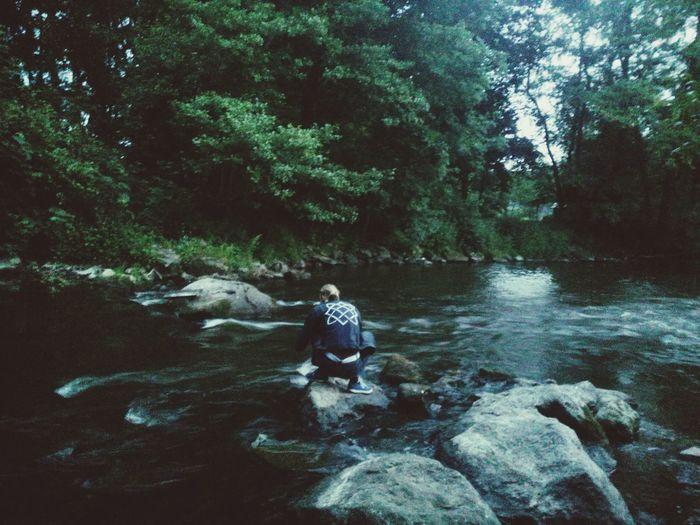 My Dear Husband River Summer Evening Stones