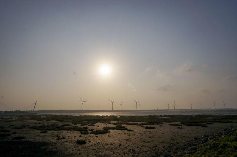 Sea And Sky Sea Seascape Windmill Windmills Sun Sunset Sunshine Reflection Scenics Tranquil Scene Scenery The Great Outdoors - 2017 EyeEm Awards