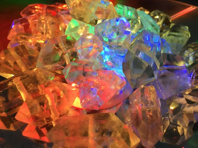 Crystal Gemstone  Multi Colored No People Close-up Indoors  Day Retrofuturism Crystals Quartz Vaporwave Aesthetic Neon Dreamy 80s Futuristic Esoteric New Age Witch Witchcraft  Compact Disc Pile Collection Transparent Glowing