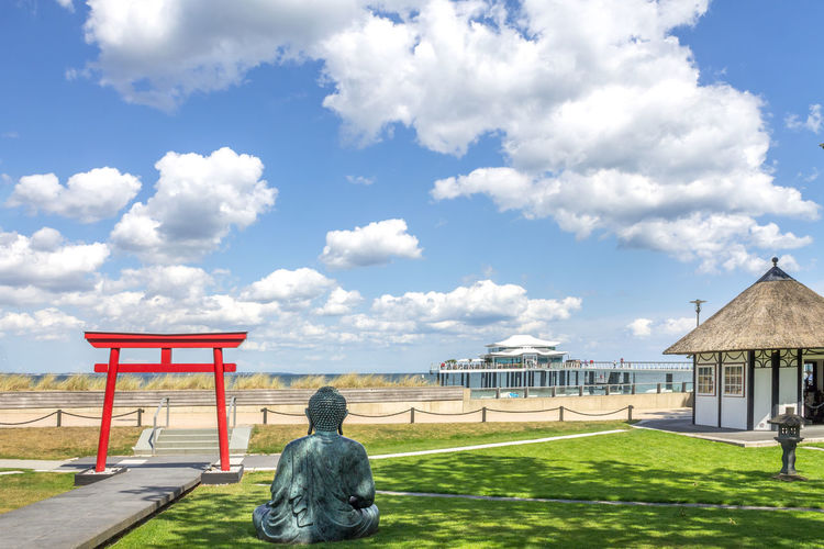 Architecture Badeurlaub Beach Building Europe Germany Landscape Meer Nature No People Ocean Seebrücke Sky Timmendorf Timmendorfer Strand Tourism Vacation