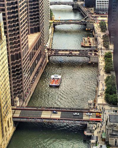 Looking down at the Chicago Riverwalk Chicago River Chicago Architecture Chicago River Scenery EyeEm EyeEm Best Shots EyeEm Best Edits EyeEm Gallery Eyeemphotography EyeEm Team Eyeemurban IPhone A Bird's Eye View