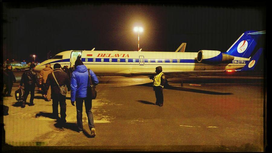 Airplane Belavia Hello World