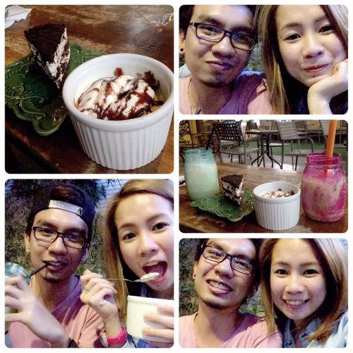Be with someone who brings out the best in you, not the stress in you...happy tummy = happy faces... YellowHauz Enjoying Life Couple<3 Chill #lateupload