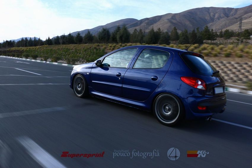 Check This Out Enjoying Life Taking Photos PouriaNaseri© PoucoFotografia© BestEyeemShots Taken By Me Colorful Lovely Tehran Peugeout 206+ Pug Peugeot SuperSprint Royal Blue  206+ 206plus