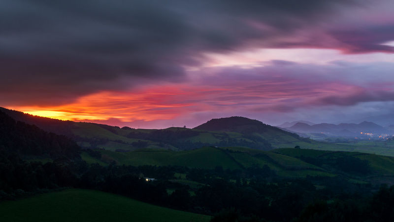 Beauty In Nature Cloud - Sky Day Landscape Mountain Mountain Range Nature No People Outdoors Rural Scene Scenics Sky Sunset Tranquil Scene Tranquility
