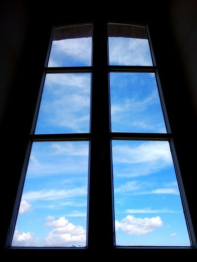 Escape Blue Blue Sky Clouds Help Flying Closed Colour Indoors  colour of life Window View Sky And Clouds Sky_collection Door Depression - Sadness Happyness Horizon Closed Window  Window Looking Through Window Glass - Material Sky Close-up Cloud - Sky Window Frame Window Sill Window Box Window Washer Transparent