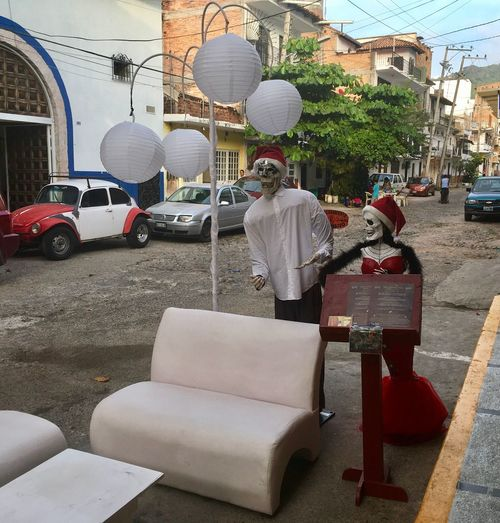Street scene, Mexico Day Mexico Architecture Puerto Vallarta Day Of The Dead VW Beetle Lighting Equipment Streetphotography