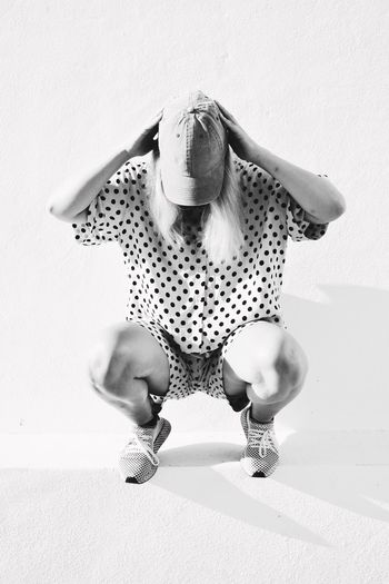 Hat Leisure Activity Summer Blackandwhite Black And White Portrait Blackandwhite Portrait Women person Spotted Indoors  Animal Wildlife High Angle View Nature Polka Dot Wall - Building Feature 2018 In One Photograph My Best Photo International Women's Day 2019