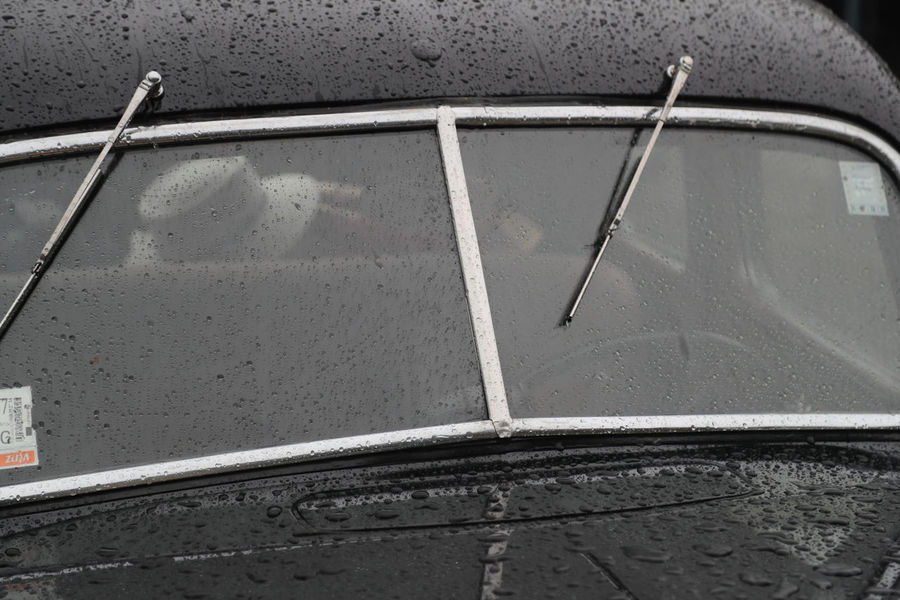 Close-up Day No People Oldtimer Outdoors Raining Rainy Transportation Windshield Windshield Wipers