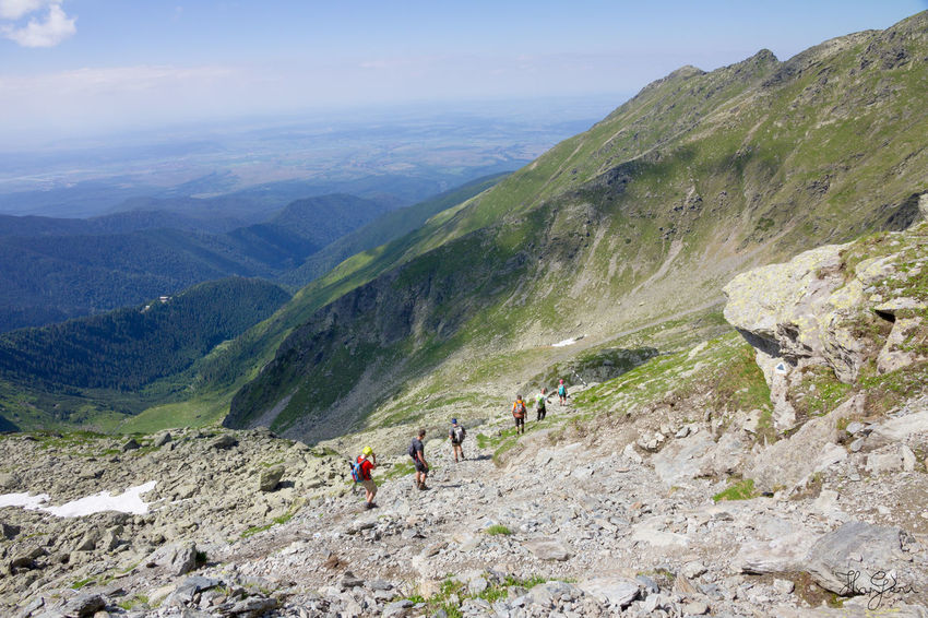 Peak Negoiu, Transylvania Adventure Beauty In Nature Day Hiking Landscape Men Mountain Mountain Range Nature Outdoors People Real People Scenics Sky Tranquility Travel