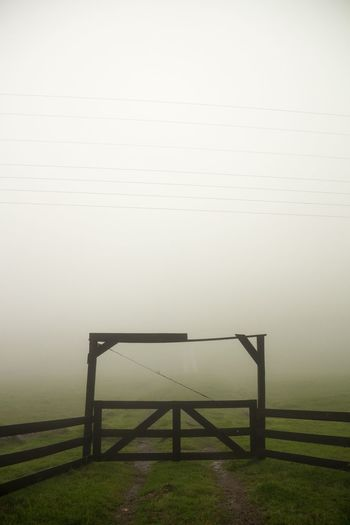 silent hill days Winter Green Farm Nature No People Day Sky Architecture Grass Outdoors Fog Barrier Land Field Built Structure