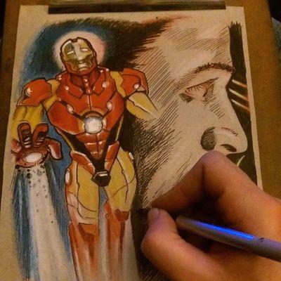 In progress Fullcustomtattoo Torstenmatthes Freehand Ironman Tonystark Marvel Check This Out Tattooartist  Drawing Mrttattoo