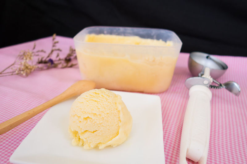 Dessert Desserts Homemade Homemade Ice Cream Ice Cream Time Temptation Close-up Cold Cold Food Food Food And Drink Ice Cream Ice Cream ❤ Indulgence Lemon Lemon Curd Lemon Ice Cream Plate Ready-to-eat Sweet Food