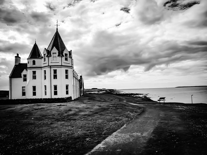 John O'Groats Scotland City Sea Lighthouse Water Beach History Sky Architecture Building Exterior Cloud - Sky