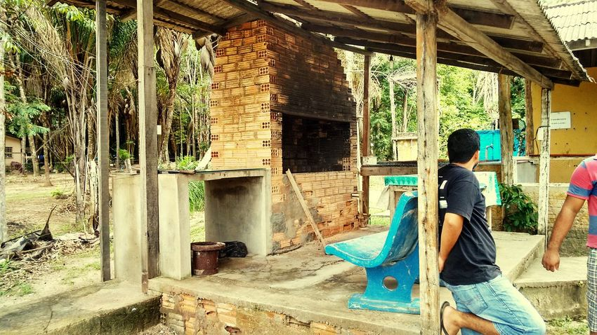Churrasqueira surrada... Barbecue Interior Do Estado
