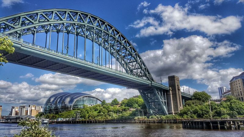 Architecture Cloud - Sky Built Structure Bridge - Man Made Structure Modern Sky City Water Cityscape Building Exterior Outdoors Urban Skyline Newcastle Upon Tyne Rivertyne Tyne Bridge