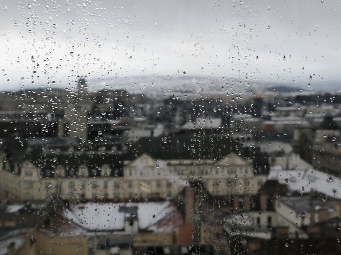 View in Budapest through the rain Budapest EyeEm Selects Wet Window Drop Glass - Material Transparent Rain Water Full Frame Backgrounds Indoors  City Sky No People Built Structure Nature Architecture Close-up RainDrop Rainy Season Cityscape