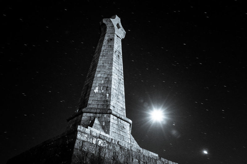 Carn Brea Monument at Night Carn Brea Night Photography Architecture Cornwall Heritage History Illuminated Low Angle View Monument Night Night Sky No People Outdoors Sky Stars Travel Destinations first eyeem photo